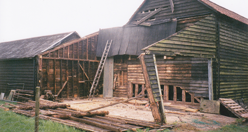 The Entrance at Debden Barns pre Restoration
