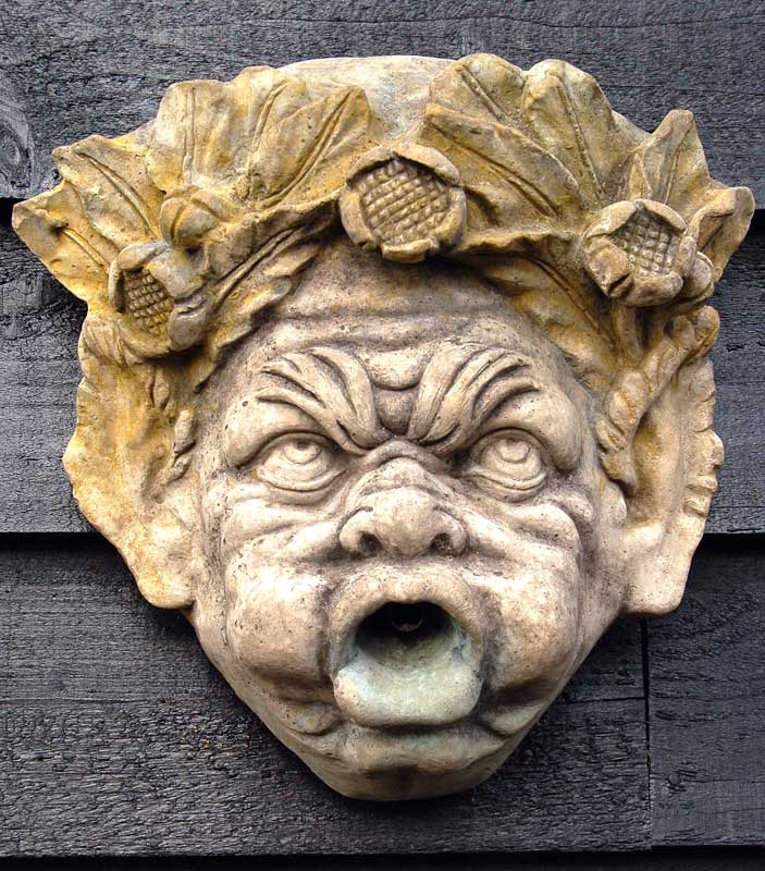 John Cheere Fountain Mask a cast stone copy of early 19th Century fountain mask £85. Buy online or visit Debden Barns Antiques Saffron Walden, Essex