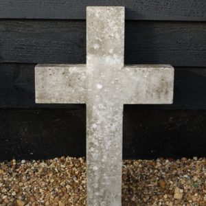 19th Century Marble Cross £95.00. Nicely weathered, very good solid condition. Buy online or visit Debden Barns Antiques Saffron Walden, Essex.