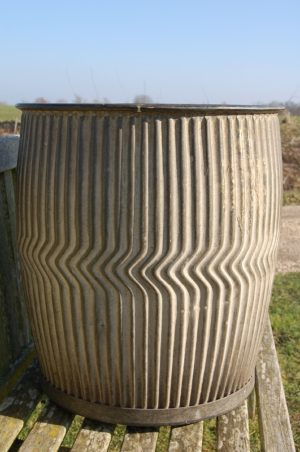Vintage Galvanished Dolly Tub in excellent condition, museum quality! £105. Buy online or visit Debden Barns Antiques Saffron Walden, Essex.