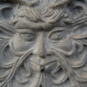 Lead Green Man Fountain Mask with copper spout late 20th Century £145. Buy online or visit Debden Barns Antiques Saffron Walden Essex