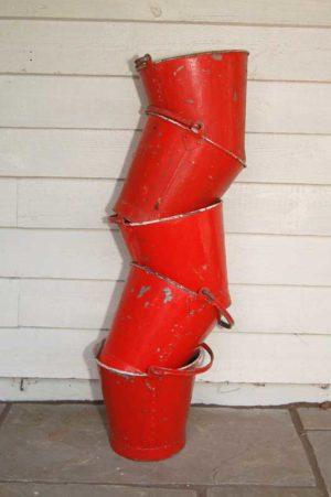 Original Fire Buckets, rivetted construction. £25 each. Buy online or make a visit to Debden Barns Antiques Saffron Walden, Essex.