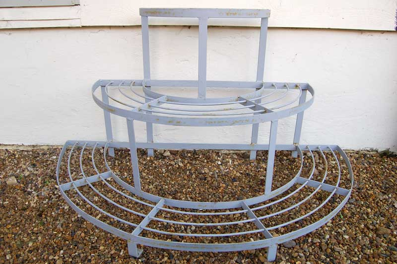 Three Tier Wrought Iron Plant Stand forged in the UK. £145. Buy online or visit Debden Barns Antqiues Saffron Walden, Essex.