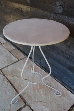 Circular Small Wrought Iron Table hand forged in the UK. £109. Buy online or visit Debden Barns Antiques Saffron Walden, Essex.