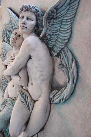 Large Plaque of Cupid & Psyche after William Adolph Bouguereau. £225. Buy online or visit Debden Barns Antiques Saffron Walden, Essex.