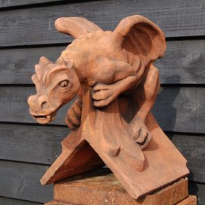 Dragon Ridge Roof Ridge Tile. £160. High quality with detailed features. Made in the UK. Buy online or visit Debden Barns Saffron Walden, Essex.
