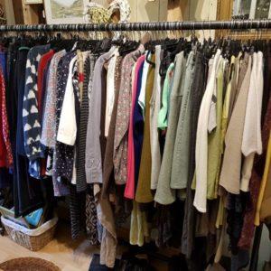 Nearly New Clothing at Berrick Antiques, Debden Barns, Saffron Walden